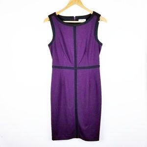 Calvin Klein Size 4 Purple Black Sleeveless Dress